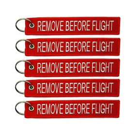 REMOVE BEFORE FLIGHT KEYCHAIN 5PACK